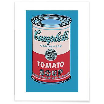 JUNIQE Print - Warhol - Campbell's Soup Can, 1955 - Food & Drink Poster in Black
