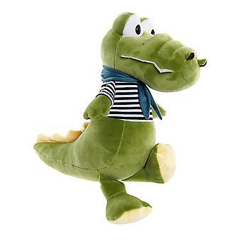 Fluffig leksak DKD Home Dekor Grön Polyester Krokodil (20 x 30 x 37 cm)