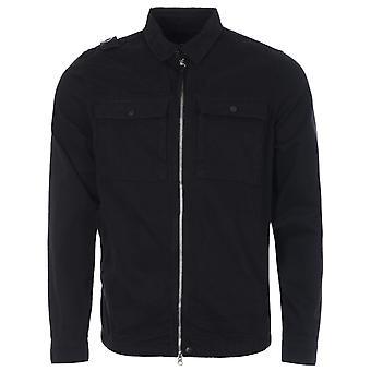 MA.Strum GD Zip Through Overshirt - Black