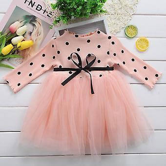 24m Cotton Dot Dress For Baby Long Sleeves Infant Kids Dress