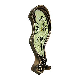 Cool fini Bronze fondu Mantel Clock Table bureau Dali