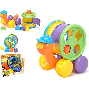 Toby the Turtle Shape Sorter pull along Baby and Toddler Childrens sorting Toy