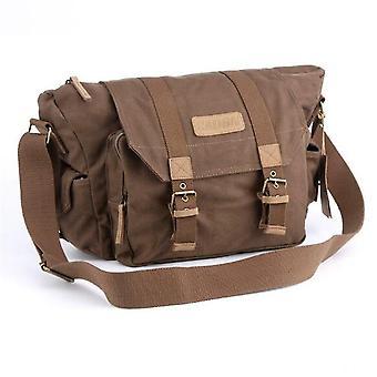 Camera bags cases f1 canvas outdoor leisure one shoulder digital camera bag coffee