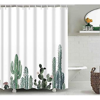 Shower curtains tropical cactus shower curtain bathroom decoration multiple sizes