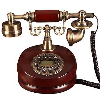 Para lograr un teléfono antiguo europeo de alta gama Pastoral Teléfono retro Anticuado Teléfono clásico Llamada telefónica Teléfono fijo Regalo