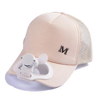 Outdoor Sunscreen Cap With Fan M Pattern