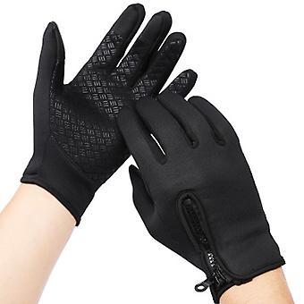 Unisex Touchscreen Laufhandschuhe, Thermal Winterhandschuhe Xl