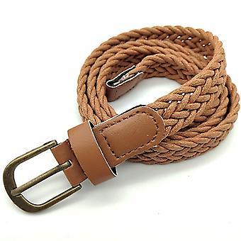 נשים חגורות אלסטיות למתוח קלוע חגורה פין אבזם Wasitband