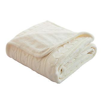 Silktaa Multifonctionnel Européen Rétro Plus Cachemire Tricoté Casual Blanket