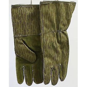 Echte deutsche Nva Regen Muster Strichtarn Handschuhe