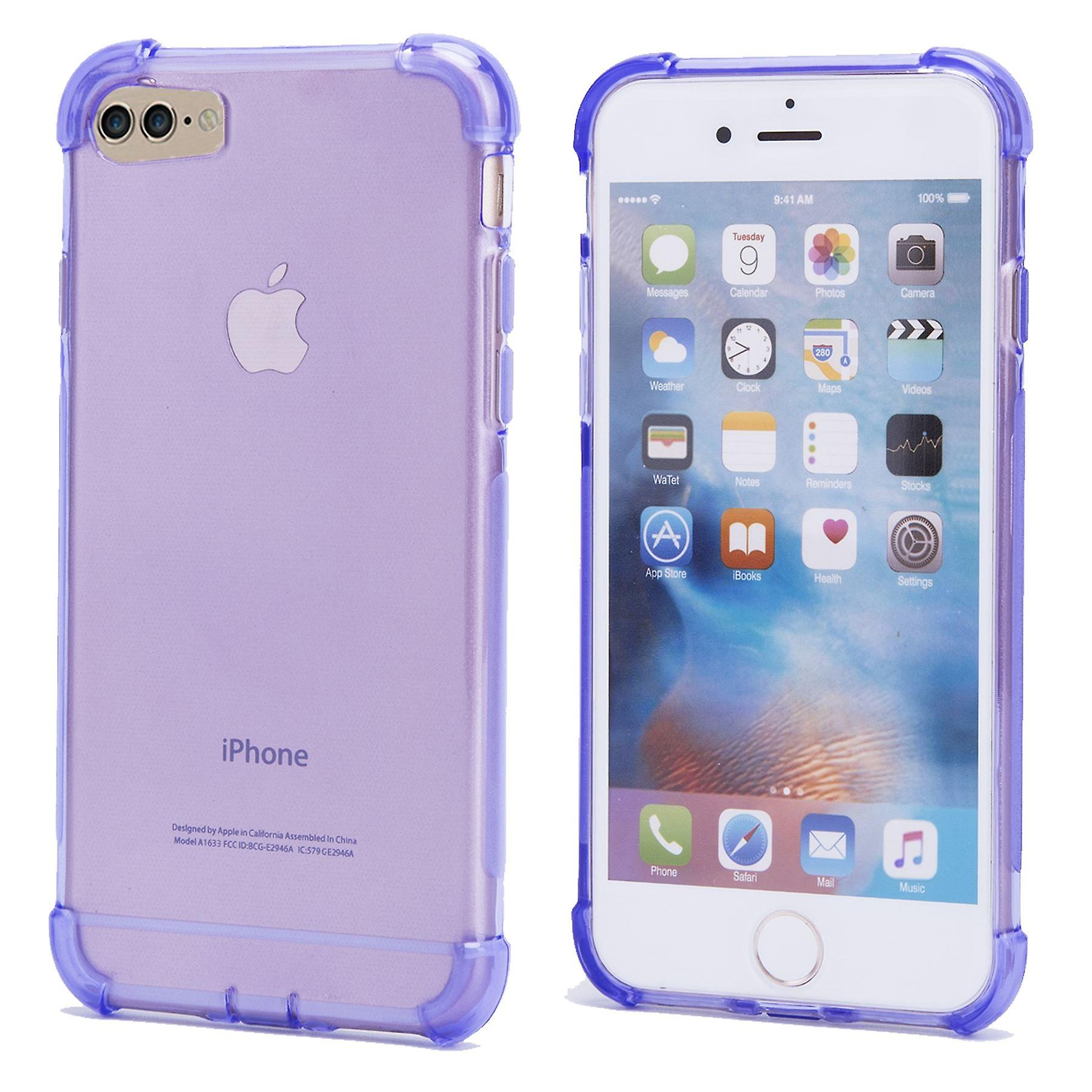 32nd Tough Gel case + stylus for Apple iPhone 7 / iPhone 8  - Purple