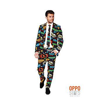 Badaboom comique costume souillé Opposuit slimline Premium 3 pièces UE tailles
