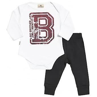 Spoilt Rotten Big Brother Babygrow & Jersey Trousers Outfit Set