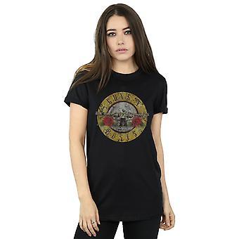 Guns N Roses naisten Vintage Bullet Logo poikaystävä Fit t-paita