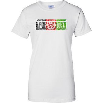 Afganistanin Grunge maan nimi lippu vaikutus - naisten T-paita