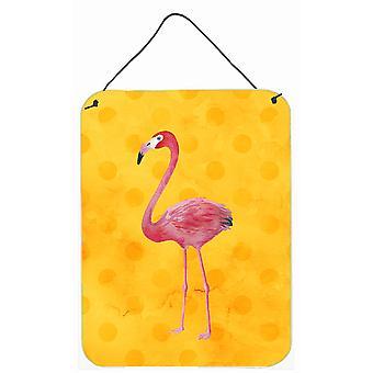 Flamingo jaune Polkadot mur ou une porte suspendue imprime