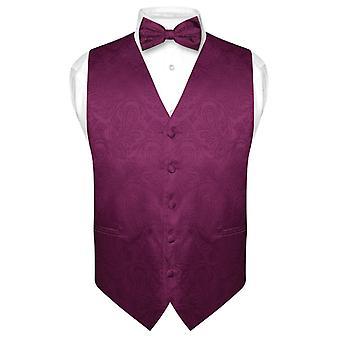 Herren Paisley Design Kleid Weste & Bow Tie BOWTie Set