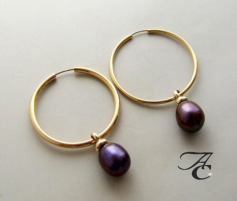 Gold Earrings with pendants