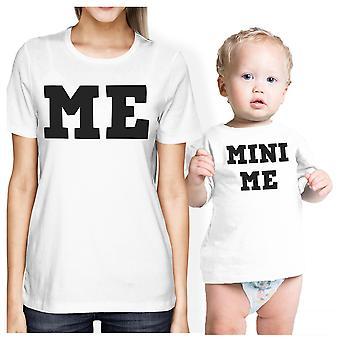 Mini Me mãe e bebê combinando camisas de presente para a nova mãe x-mas