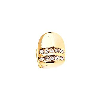 Bling 10x8mm Grill - One size fits all Zahnaufsatz gold