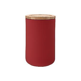 Ladelle Stak Soft Matt Red Canister, 17cm