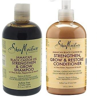 Shea Moisture Jamaican Black Castor Oil Shampoo 384ml & Conditioner 384ml