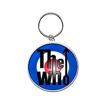 The Who Keyring Keychain Mod Target band Logo Official New Silver