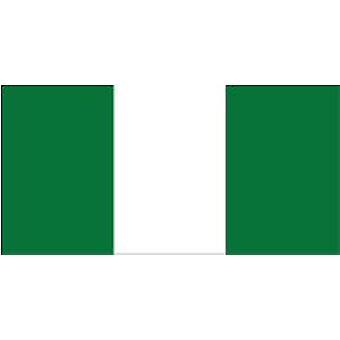 Nigeria flagg 5 ft x 3 ft med hull For hengende