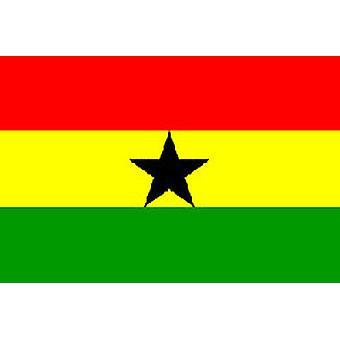 Ghanan lippu 5 jalkaa x 3 ft jossa ripustamista varten