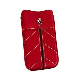 Ferrari Sleeve cell phone Pocket Leather in red with logo iPhone 3 G 4 / 4s HTC