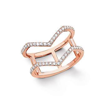 s.Oliver juvel damer sølv cubic zirconia ring Rosé guld SO1333