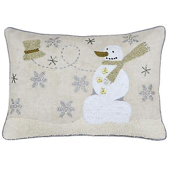 Riva Home Snowman Cushion Cover