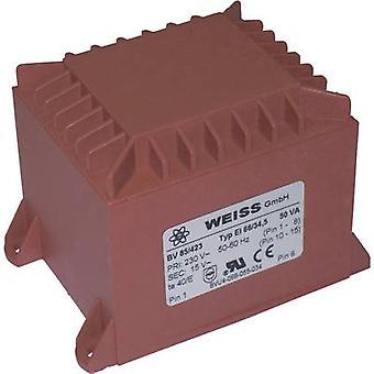 Weiss Elektrotechnik 85/425 PCB mount transformer 1 x 230 V 1 x 24 V AC 50 VA 2.08 A