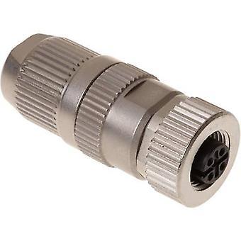 Harting 21 03 221 2405 Sensor/actuator connector M12 Socket, straight No. of pins (RJ): 4 1 pc(s)