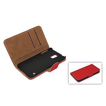 الحقيبة القضية واقية (عبر الوجه) للهاتف المحمول أبل أي فون 5/5 s أحمر