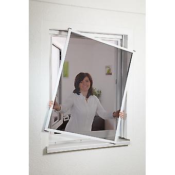 Kit de fenêtre moustiquaire 100 x 120 cm avec tissu de pollen-protection en marron
