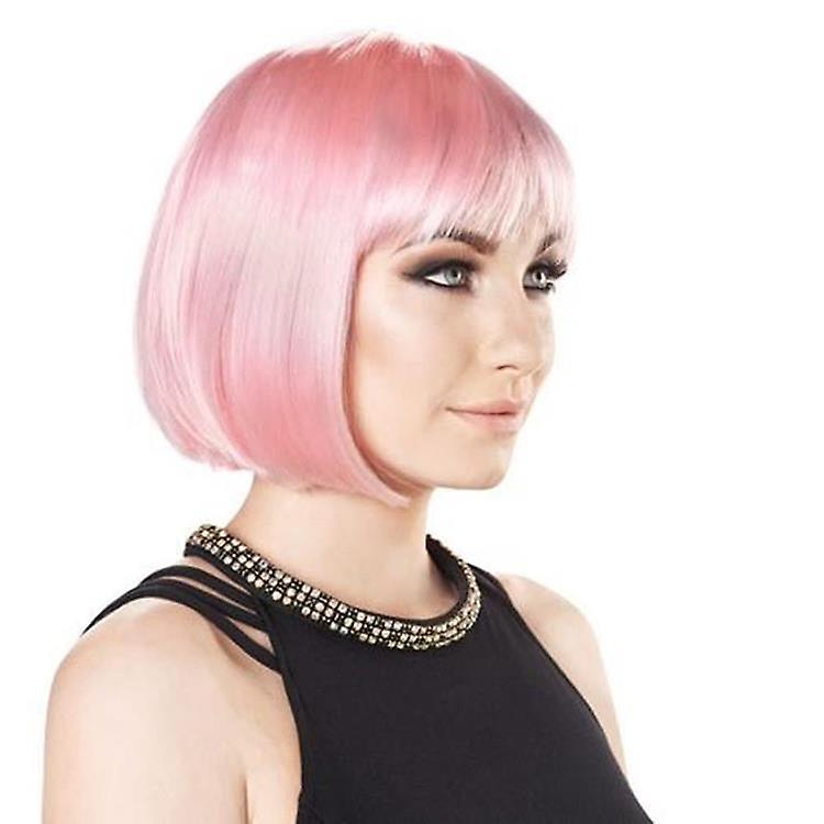 Party Wig - Candyfloss Pink - Perruque Bob Courte - Couleurs Pastel