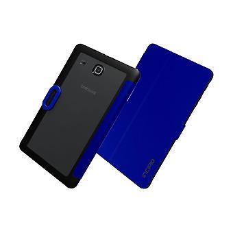 Incipio Clarion Folio Impact-resistant Case for Samsung Galaxy Tab E - Dark Blue