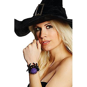 Clunk bracelet spider horror Accessiore Halloween witch