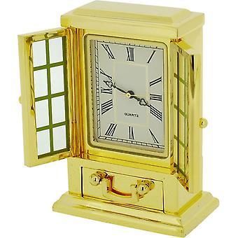 Regalo productos aparador francés miniatura reloj - oro