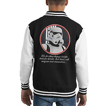 Oprindelige Stormtrooper Droids citat Kid's Varsity jakke