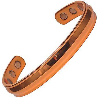 MPS® ACHILLES Polerowane Pure Copper Magnetic Bangle z 6 magnesami z etui na prezent