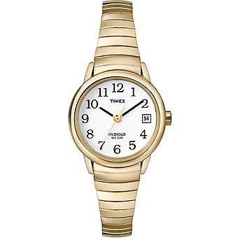 Timex lett leser damer klassisk analog klokke med utvidbart gull stropp