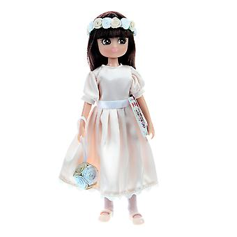 Lottie Doll Royal Flower Girl Figure with Outfit Accessories Set and Hair
