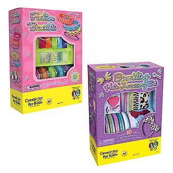 Creativity for Kids Sparkling Hair Accessory & Bracelet Bundle