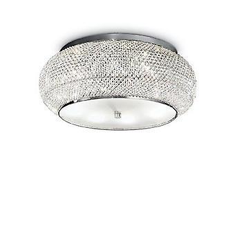 Ideale Lux - Pasha Chrome & kristal tien licht Flush montage IDL100746