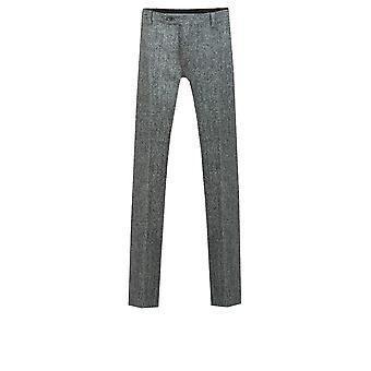 Skotske Harris Tweed menns Grey Suit bukser vanlig Fit 100% ull fiske Bens