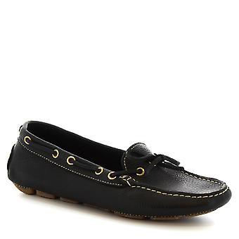 Altre chiuse non Classic barca di Leonardo scarpe donna Slip-on a mano in pelle di vitello nera