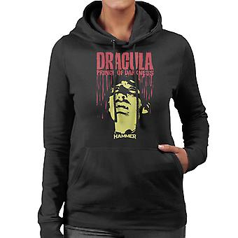 Hammer Dracula Prince Of Darkness Poster Women's Hooded Sweatshirt