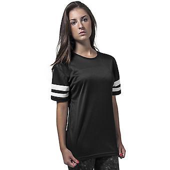 Cotton Addict Womens Mesh Contrast Stripe Sports T Shirt